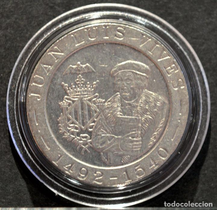 200 PESETAS JUAN CARLOS I 1993 CONMEMORATIVA JUAN LUIS VIVES VALENCIA (Numismática - España Modernas y Contemporáneas - Juan Carlos I)