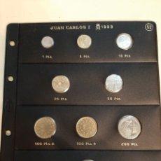 Monedas Juan Carlos I: 1993 HOJA PARDO MONEDAS NUEVAS VENDEMOS HOJAS PARDO SIN MONEDAS SOLICITA TUS FALTAS HOJAS. Lote 184924921