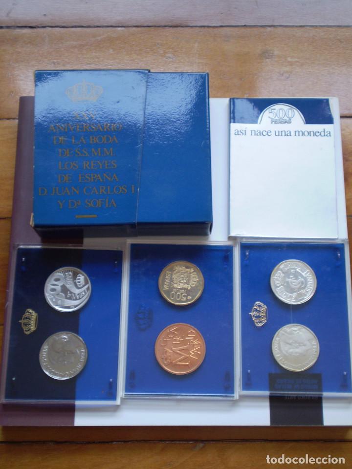 500 PESETAS PLATA 1987. ASÍ NACE UNA MONEDA XXV ANIVERSARIO DE LA BODA DE S.S. M.M (Numismática - España Modernas y Contemporáneas - Juan Carlos I)