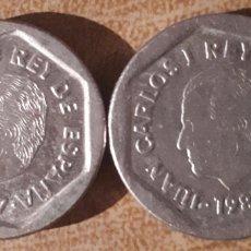 Monedas Juan Carlos I: DOS MONEDAS DE 200 PESETAS - 1987. Lote 186273042