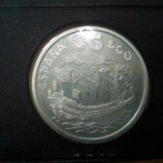 Monedas Juan Carlos I: 5 ECU DE 1995 - PLATA. DEDICADO A LA MARINA ESPAÑOLA. CERTIFICADO AUTENTICIDAD. Lote 186447578