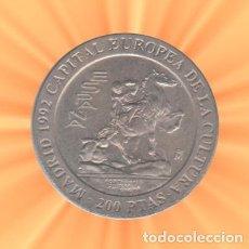 Monedas Juan Carlos I: 200 PESETAS JUAN CARLOS I 1992 MADRID CIUDAD EUROPEA CULTURA SC. Lote 184095300