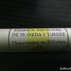 Monedas Juan Carlos I: CARTUCHO MONEDAS JUAN CARLOS I - 25 MONEDAS 200 PESETAS 1986. Lote 187527447
