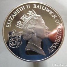 Monedas Juan Carlos I: GUERNSEY .DOS POUNDS DE PLATA DE TAMAÑO GRANDE . NUEVA. Lote 187534205