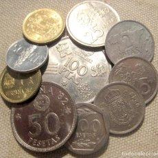 Monedas Juan Carlos I: JUAN CARLOS I: 200+100+50+25+5+5+2+1+1+0,5 PTAS. (10 MONEDAS DIFERENTES)./ USADAS.. Lote 187639251