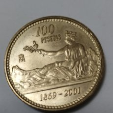 Monedas Juan Carlos I: ULTIMA MONEDA DE 100 PESETAS 1869-2001. Lote 187909746