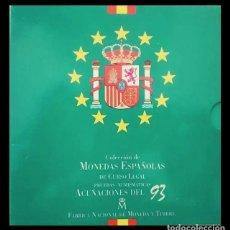 Monedas Juan Carlos I: COLECCIÓN DE MONEDAS ESPAÑOLAS DE CURSO LEGAL PRUEBAS NUMISMATICAS 1993 CARTERA . Lote 188671187