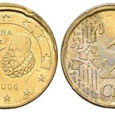 Monedas Juan Carlos I: MONEDA 20 CÉNTIMOS ERROR 2006. Lote 188734740