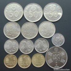 Monedas Juan Carlos I: JUAN CARLOS I, MUNDIAL 82 AL COMPLETO, (100 PTS Y 50 CTM DE 1980) Y (1,5,25,50 PTS, AÑOS 80,81 Y 82). Lote 189282471