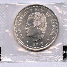 Monedas Juan Carlos I: MONEDA DE PLATA 2000 PESETAS AÑO 2000 LA MAS RARA Y CON LA FUNDA ORIGINAL DE LA FNMT. Lote 190117100