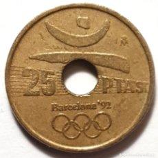 Monedas Juan Carlos I: MONEDA 25 PESETAS 1990 LANZAMIENTO DE DISCO BARCELONA 92. Lote 190562251