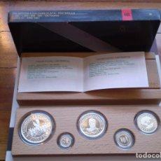 Monnaies Juan Carlos I: MONEDAS 2000 1000 500 200 100 PESETAS. SERIE III 1991. 5 QUINTO CENTENARIO. PLATA FDC BRILLO.. Lote 191017707