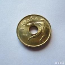 Monedas Juan Carlos I: MONEDA DE 25 PESETAS DE 1990 SIN CIRCULAR (EMBLEMA). Lote 191231845