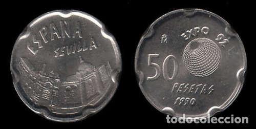 ESPAÑA 50 PESETAS 1990 S/C SEVILLA - EXPO 92 SPAIN (Numismática - España Modernas y Contemporáneas - Juan Carlos I)