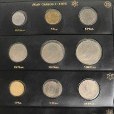 Monedas Juan Carlos I: COLECCION DE MONEDAS JUAN CARLOS DESDE 1975 A 2001 . Lote 191460147