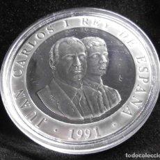 Monedas Juan Carlos I: MONEDA JUEGOS OLIMPICOS DE BARCELONA 1991, BOLOS, PLATA 925/1000. Lote 191536406