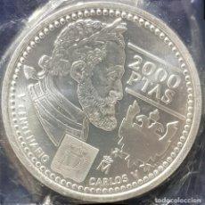 Monedas Juan Carlos I: FDC - 2000 PESETAS 2000 - CARLOS V - PLATA 925. Lote 191538657