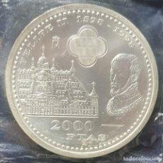 Monedas Juan Carlos I: FDC - 2000 PESETAS 1998 - EL ESCORIAL - PLATA 925. Lote 191538845
