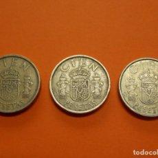 Monedas Juan Carlos I: 3 MONEDAS DE 100 PESETAS AÑO 1984 - USADAS - ... L638. Lote 191999347