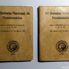 Monedas Juan Carlos I: 1981. 2 CARTERITAS A.N.E. IV SEMANA NUMISMÀTICA.. Lote 192012947
