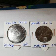 Monedas Juan Carlos I: MONEDA LOTE 2 MONEDAS 100 PESETAS JUAN CARLOS I 1975*76 Y 1980*80. Lote 221395198