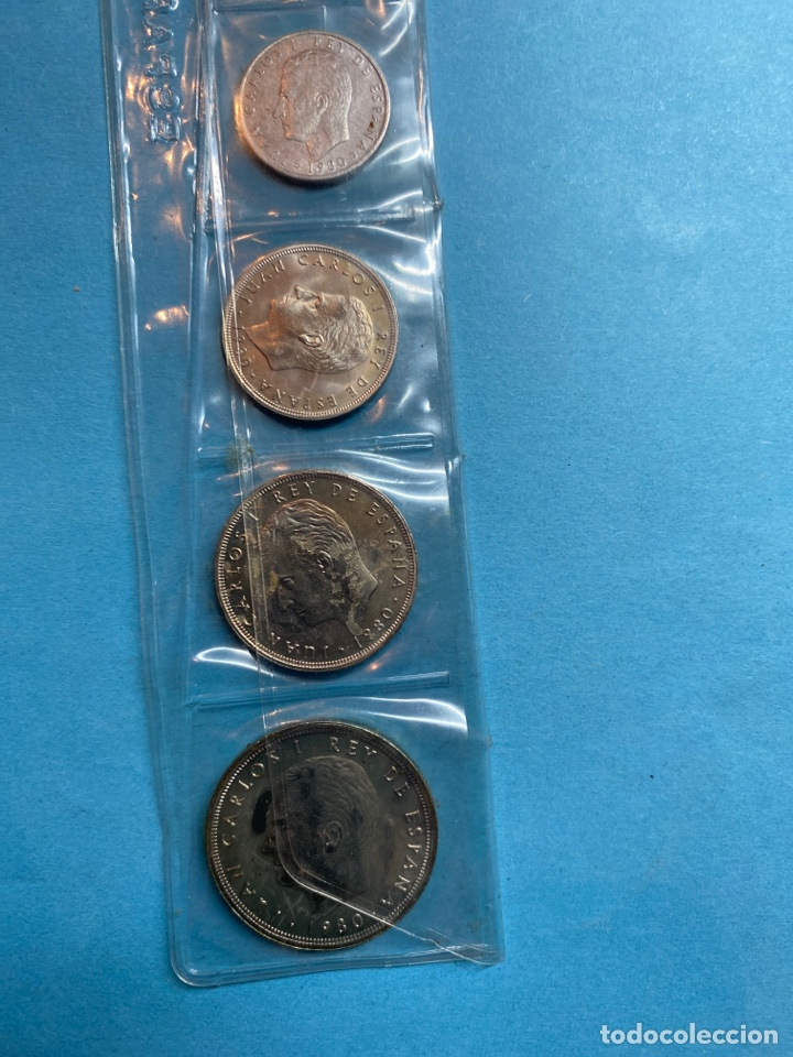 Monedas Juan Carlos I: BLISTER ESPAÑA 82 CON 4 MONEDAS DEL MUNDIAL DE ESPAÑA 1982. 50, 25, 5 PESETAS Y 50 CÉNTIMOS. 1980 - Foto 3 - 47069216