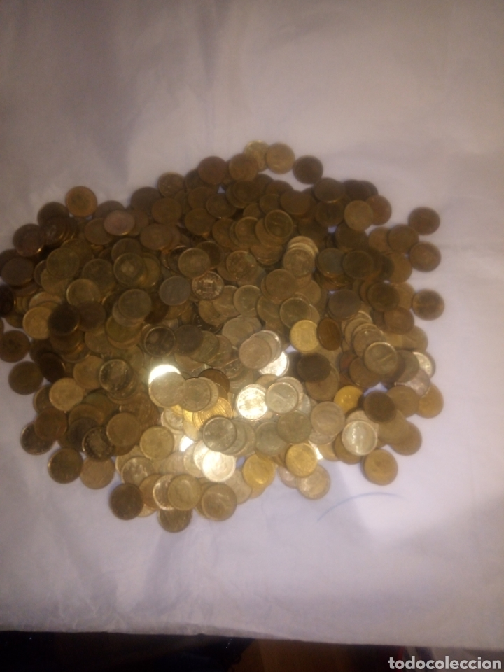 Monedas Juan Carlos I: 565 monedas de peseta del Rey Juan Carlos sin clasificar - Foto 2 - 193955286