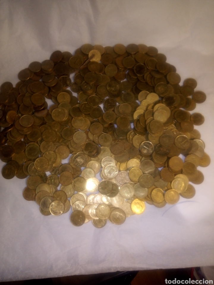Monedas Juan Carlos I: 565 monedas de peseta del Rey Juan Carlos sin clasificar - Foto 5 - 193955286