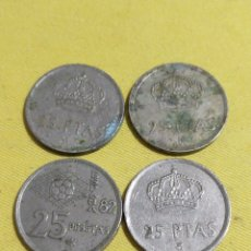 Monedas Juan Carlos I: LOTE 25 PTAS VARIOS AÑOS. Lote 194344565