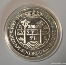 Monedas Juan Carlos I: ESPAÑA - 2000 PESETAS 1991 - ENCUENTRO DE DOS MUNDOS - PLATA - LOT. 2301. Lote 194506558
