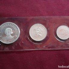 Monedas Juan Carlos I: V CENTENARIO. SERIE PLATA DE 2000, 1000 Y 500 PESETAS. Lote 194518012