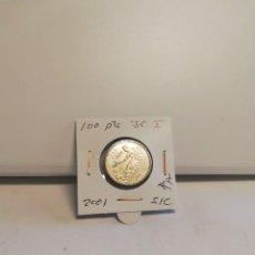 Monedas Juan Carlos I: MONEDA DE 100 PESETAS JUAN CARLOS I 2001 S/C ÚLTIMAS PESETAS FLOR DE LIS ANV O REV. Lote 194589497