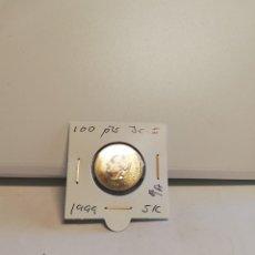 Monedas Juan Carlos I: MONEDA DE 100 PESETAS JUAN CARLOS I 1999 S/C FLOR DE LIS ANV O REV. Lote 194589568