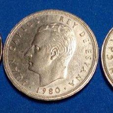 Monedas Juan Carlos I: 3 MONEDAS JUAN CARLOS 1 AÑO 1980 MUNDIAL DE FUTBOL 82. Lote 194859452