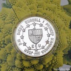 Monedas Juan Carlos I: ANDORRA 10 DINERS - ECU - 1995 - RAMON BERENGUER III - PLATA PROOF KM 105. Lote 194860701