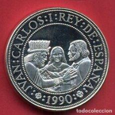 Monedas Juan Carlos I: ESPAÑA 5000 PESETAS PLATA 1990 PROOF HIDALGO MORELOS Y JUAREZ - V CENTENARIO. Lote 194933663