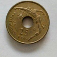 Monedas Juan Carlos I: VENDO MONEDAS 25 PESETAS AGUJERO BARCELONA '92. Lote 194959780