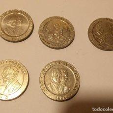 Monedas Juan Carlos I: 5 MONEDAS DE 200 PESETAS. AÑOS 1991, 1992,1996,1997,1998. Lote 194968790