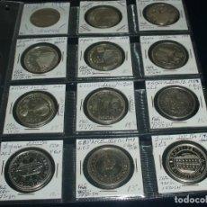 Monedas Juan Carlos I: LOTE X 12 MONEDAS DE 1000 PESETAS PLATA, TODAS DIFERENTES. Lote 195074077