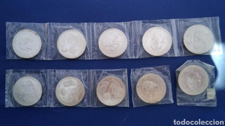 16 MONEDAS DE PLATA DE 2000 PESETAS ,JUAN CARLOS , 1998 FELIPE II (Numismática - España Modernas y Contemporáneas - Juan Carlos I)