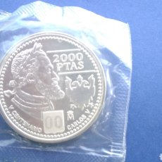 Monedas Juan Carlos I: MONEDA DE PLATA 2000 PTA. JUAN CARLOS I , AÑO 2000 ,CARLOS V. Lote 195091600