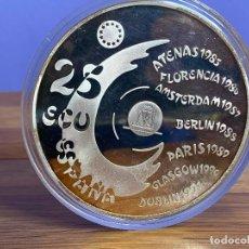 Monedas Juan Carlos I: 1992 - ESPAÑA - 25 ECU - MADRID CAPITAL EUROPEA DE LA CULTURA - CINCUENTIN - PLATA. Lote 195152311