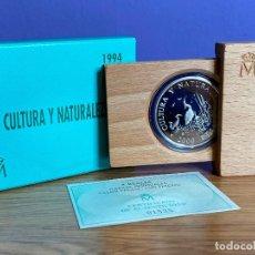 Monedas Juan Carlos I: ESTUCHE MONEDA 2000 PESETAS 1994 PLATA , FNMT, CULTURA Y NATURALEZA GARZAS IMPERIALES. Lote 195152592