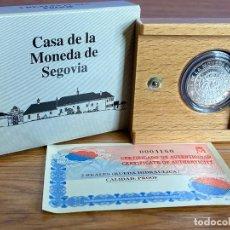Monedas Juan Carlos I: MONEDA 500 PESETAS DE PLATA ESPAÑA CASA DE LA MONEDA DE SEGOVIA 2001 CON ESTUCHE Y CERTIFICADO. Lote 195153212