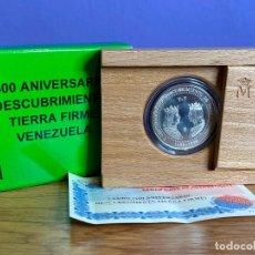 Monedas Juan Carlos I: ESTUCHE OFICIAL MONEDA 3 EUROS 1998 PLATA 500 ANIVERSARIO DESCUBRIMIENTO DE TIERRA FIRME VENEZUELA. Lote 195183505