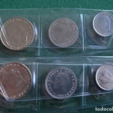 Monedas Juan Carlos I: 1985 ESPAÑA _ 1, 10 Y 100 PESETAS (LISES ARRIBA Y ABAJO) _ 6 MONEDAS (2 SÉRIES) JUAN CARLOS I _ S/C.. Lote 195409726