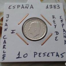 Monedas Juan Carlos I: MONEDA 10 PESETAS ESPAÑA 1983 EBC ENCARTONADA. Lote 195448655