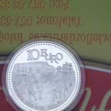 Monedas Juan Carlos I: ESPAÑA 2002 BICENTENARIO INCORPORACIÓN MENORCA CORONA ESPAÑOLA 10 EUROS PROFF. Lote 195456268