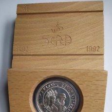 Monedas Juan Carlos I: ESTUCHE SERIE III PLATA AÑO 1991 – 5000 PESETAS – V CENTENARIO DESCUBRIMIENTO AMERICA. Lote 195457412