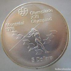 Monedas Juan Carlos I: CANADA . 5 DOLARES DE PLATA . XXI OLIMPIADA DE MONTREAL .TOTALMENTE NUEVA. Lote 195465278